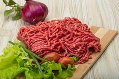 Ruw fijngehakt rundvlees stock fotografie