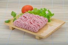 Ruw fijngehakt varkensvleesvlees stock foto's