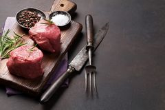 Ruw filetlapje vlees royalty-vrije stock afbeelding