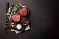 Ruw filetlapje vlees royalty-vrije stock fotografie