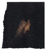 Ruw gebruikt schuurpapierschuurpapier met haveloze randen op witte achtergrond Royalty-vrije Stock Afbeelding