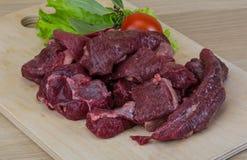 Ruw hertevleesvlees Royalty-vrije Stock Foto's