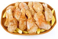 Ruw kippenvlees Stock Afbeeldingen