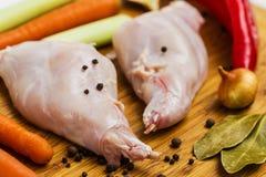 Ruw konijnvlees Royalty-vrije Stock Afbeeldingen