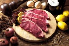 Ruw Lapje vlees royalty-vrije stock foto's
