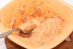Ruw mengsel voor het maken van vleesballetjes Stock Foto's