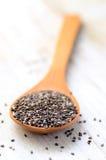 Ruw Organisch Chia Seeds Stock Afbeeldingen
