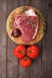 Ruw ribeyelapje vlees Stock Afbeeldingen