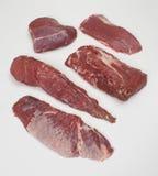 Ruw rood vlees Royalty-vrije Stock Foto's