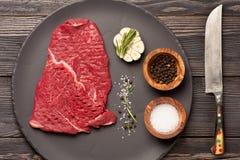 Ruw rundvleeslapje vlees Royalty-vrije Stock Foto's