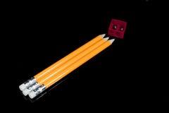 Ruw van potloden Royalty-vrije Stock Afbeelding