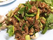 Ruw Varkensvlees in Kruidige Specerij stock afbeelding