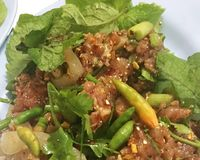 Ruw Varkensvlees in Kruidige Specerij royalty-vrije stock afbeeldingen