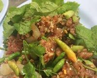 Ruw Varkensvlees in Kruidige Specerij stock foto