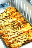 Ruw varkensvlees Satay Stock Afbeelding