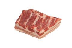 Ruw varkensvleesbacon Stock Foto