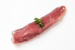 Ruw varkensvleeshaasbiefstuk royalty-vrije stock afbeeldingen