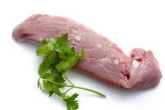 Ruw varkensvleeshaasbiefstuk Stock Afbeelding