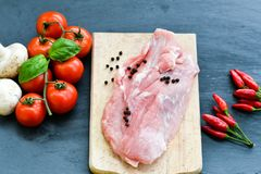 Ruw varkensvleesvlees royalty-vrije stock foto