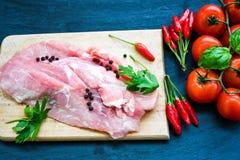 Ruw varkensvleesvlees royalty-vrije stock foto's