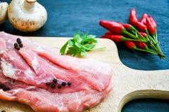 Ruw varkensvleesvlees royalty-vrije stock afbeelding