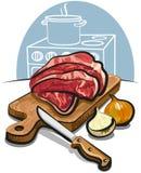 Ruw vers vlees stock illustratie
