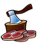 Ruw Vlees royalty-vrije illustratie