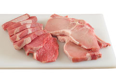 Ruw vlees. Geïsoleerd Royalty-vrije Stock Foto
