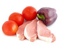 Ruw vlees met groenten Stock Foto