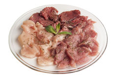 Ruw vlees op een glasplaat Royalty-vrije Stock Fotografie