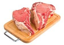 Ruw vlees, vers rundvlees Stock Foto's