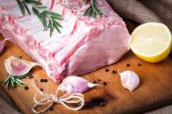 Ruw vlees, vers varkensvlees royalty-vrije stock afbeelding