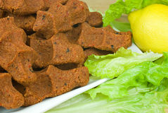 Ruw vleesballetje Stock Foto's