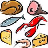 Ruw voedsel vector illustratie