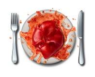 Ruw Voedsel royalty-vrije illustratie