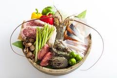 Ruw voedselingrediënt Stock Foto's