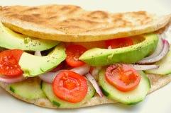 Ruw voedselrecept met verse groenten Stock Afbeeldingen