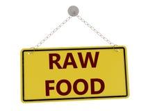 Ruw voedselteken royalty-vrije illustratie