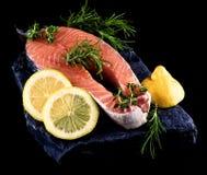 Ruw zalmlapje vlees Stock Foto's