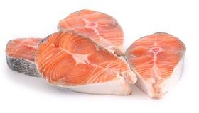 Ruw zalmlapje vlees Royalty-vrije Stock Afbeeldingen