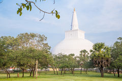 Ruwanwelisaya, Stupa, Dagoba, Anuradhapura Sri Lanka. Ruwanwelisaya is an ancient stupa in Anuradhapura Sri Lanka. It was built by King Dutugemunu in 140B.C Stock Photos