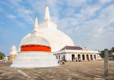 Ruwanwelisaya, Stupa, Dagoba, Anuradhapura Sri Lanka. Ruwanwelisaya is an ancient stupa in Anuradhapura Sri Lanka. It was built by King Dutugemunu in 140B.C Stock Images