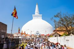 Ruwanwelisaya stupa i Anuradhapura, Sri Lanka Royaltyfri Bild