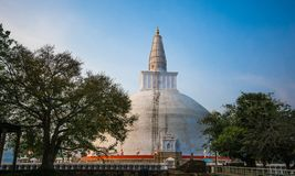 The Ruwanwelisaya is a stupa in Sri Lanka,. 3rd largest stupa in sri lanka and considered as a marvel for its architectural qualities and sacred to many stock images
