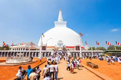 Ruwanwelisaya stupa w Anuradhapura, Sri Lanka Zdjęcie Royalty Free