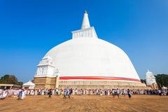 Ruwanwelisaya stupa w Anuradhapura, Sri Lanka Obraz Royalty Free