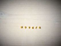 Ruwe alfabetnoedels, honger royalty-vrije stock afbeelding