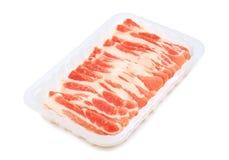 Ruwe baconplakjes Stock Foto