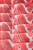 Ruwe Baconplakken Stock Foto's