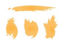 Ruwe beige vlekken De imitatie bevlekt stichting Stock Afbeelding